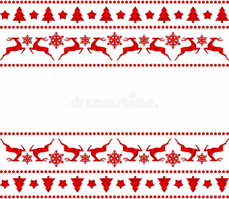 Sistema de fronteras de la Navidad libre illustration