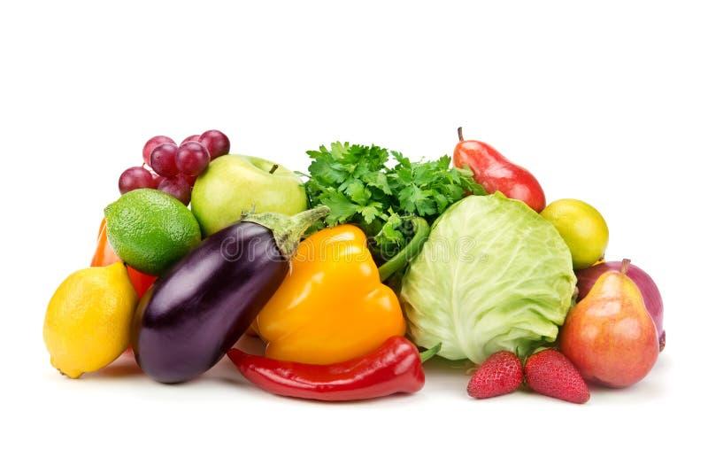 Sistema de frutas y verduras fotos de archivo libres de regalías