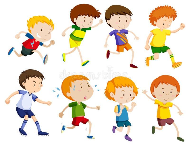 Sistema de funcionamiento de los niños stock de ilustración