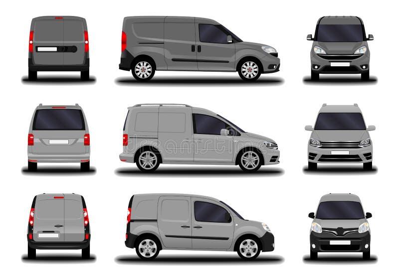 Sistema de furgonetas del cargo ilustración del vector