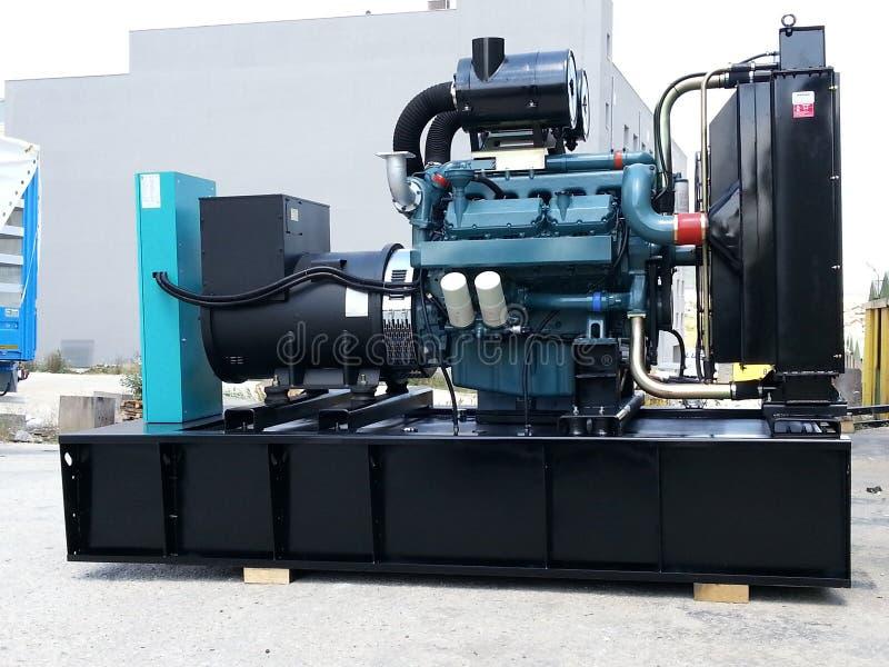 Sistema de generador diesel con el motor de Doosan fotografía de archivo libre de regalías