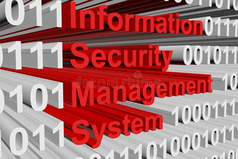 Sistema de gestão da segurança da informação ilustração royalty free