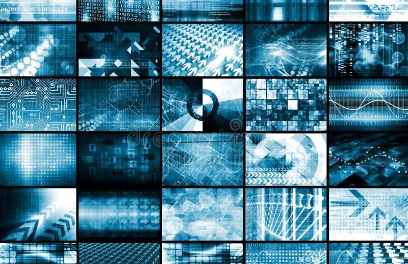 Sistema de gestão integrado ilustração do vetor