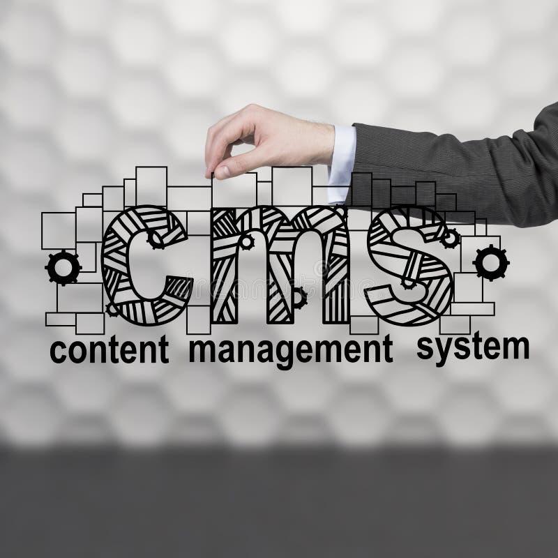 Sistema de gestão satisfeito fotos de stock