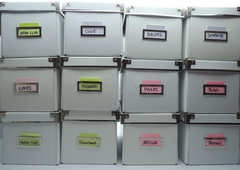 Sistema de gestión contento imagenes de archivo