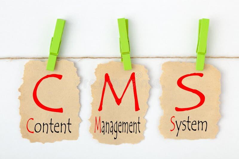 Sistema de gestión contento CMS foto de archivo libre de regalías