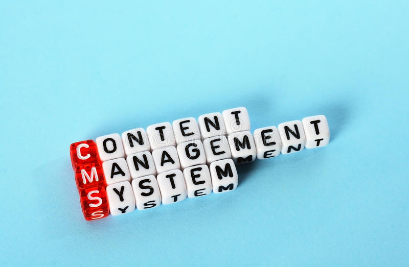 Sistema de gestión contento del CMS foto de archivo libre de regalías