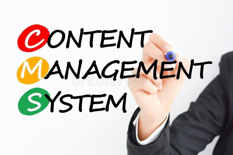 Sistema de gestión contento o CMS foto de archivo libre de regalías
