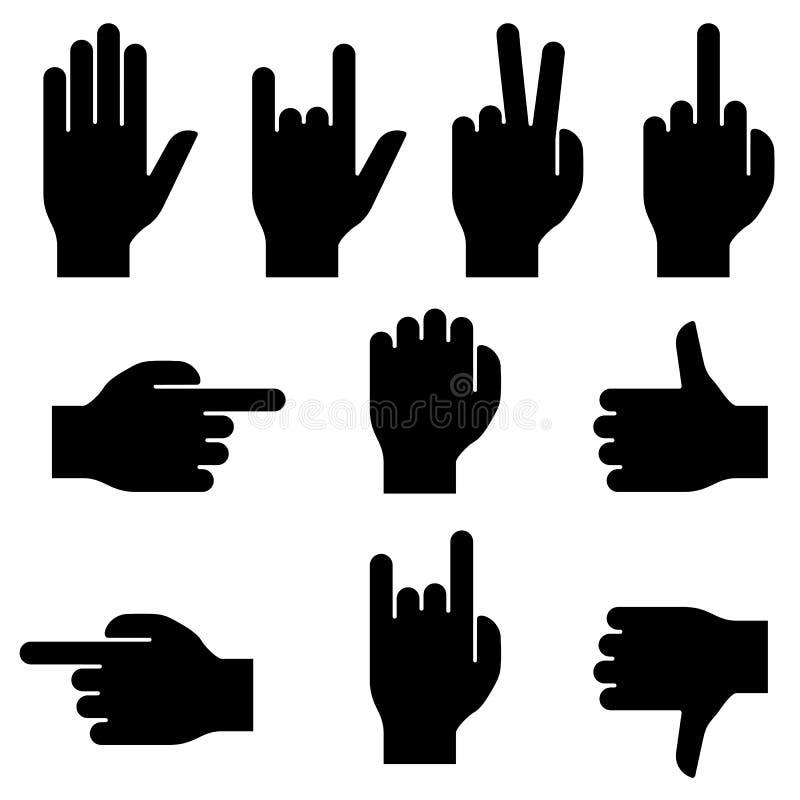 Sistema de gestos de mano. libre illustration