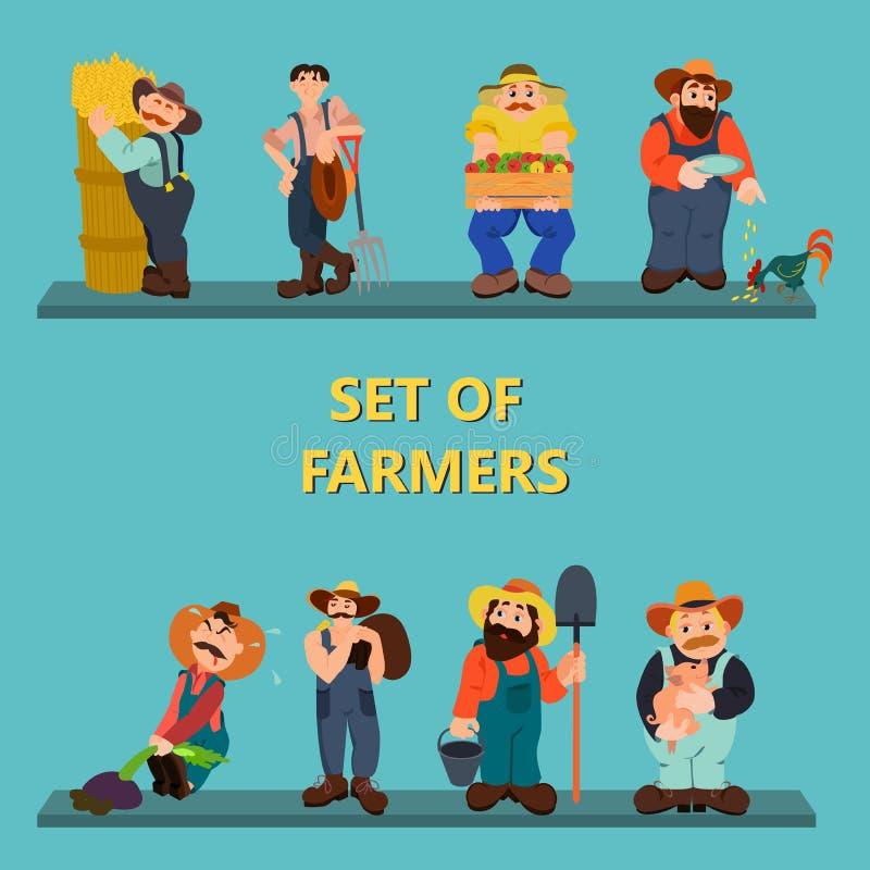 Sistema de granjeros ilustración del vector