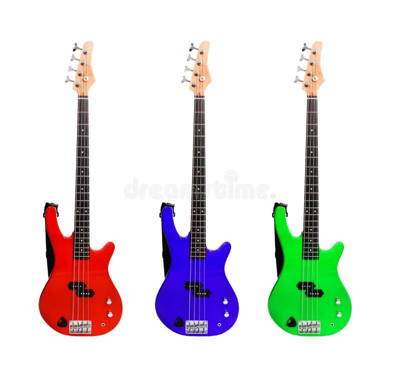 Sistema de guitarras coloridas imagen de archivo