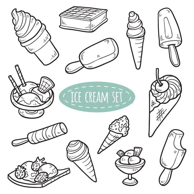 Sistema de helado del vector ilustración del vector