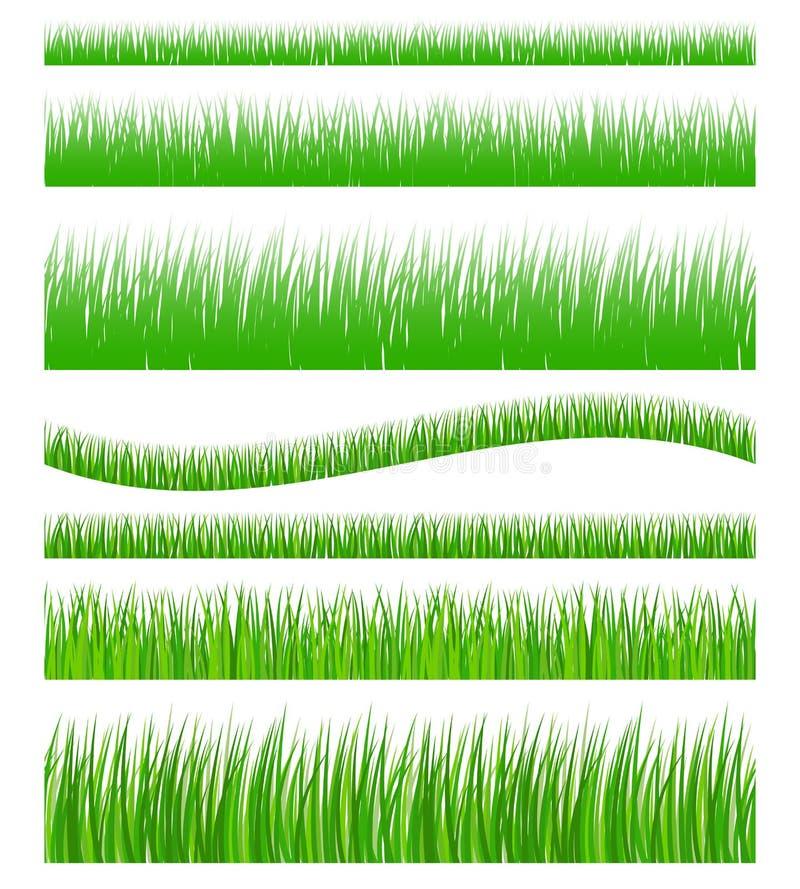 Sistema de hierba inconsútil stock de ilustración