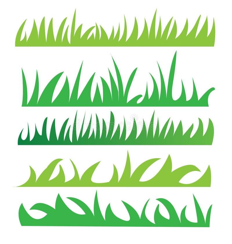 Sistema de hierba verde ilustración del vector