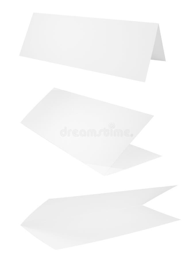Sistema de hojas dobladas del papel A4 ilustración del vector