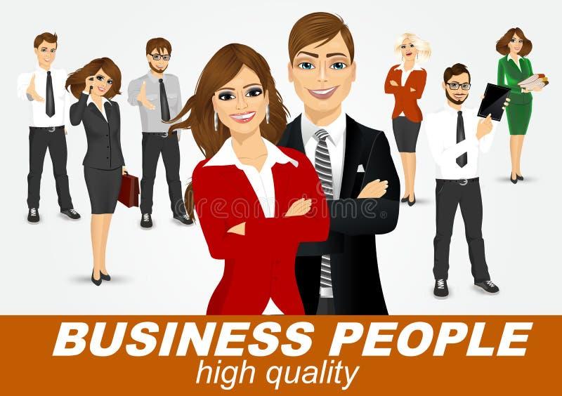 Sistema de hombres de negocios diversos ilustración del vector