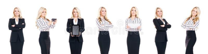 Sistema de hombres de negocios aislados en blanco imagenes de archivo