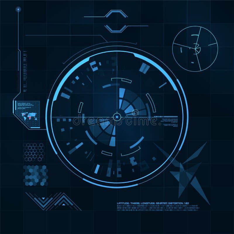 Sistema de HUD y del GUI. Interfaz de usuario futurista. libre illustration