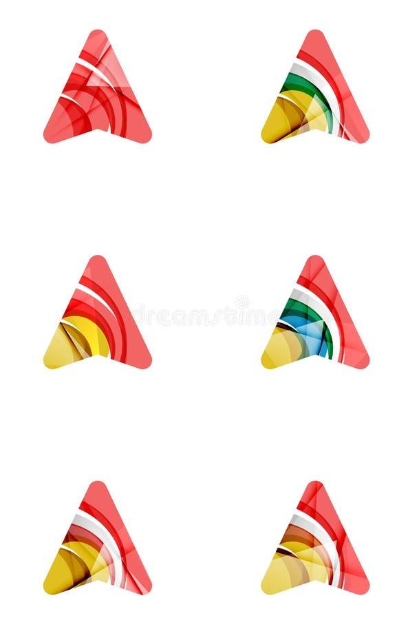 Sistema de iconos abstractos de la flecha direccional, negocio stock de ilustración