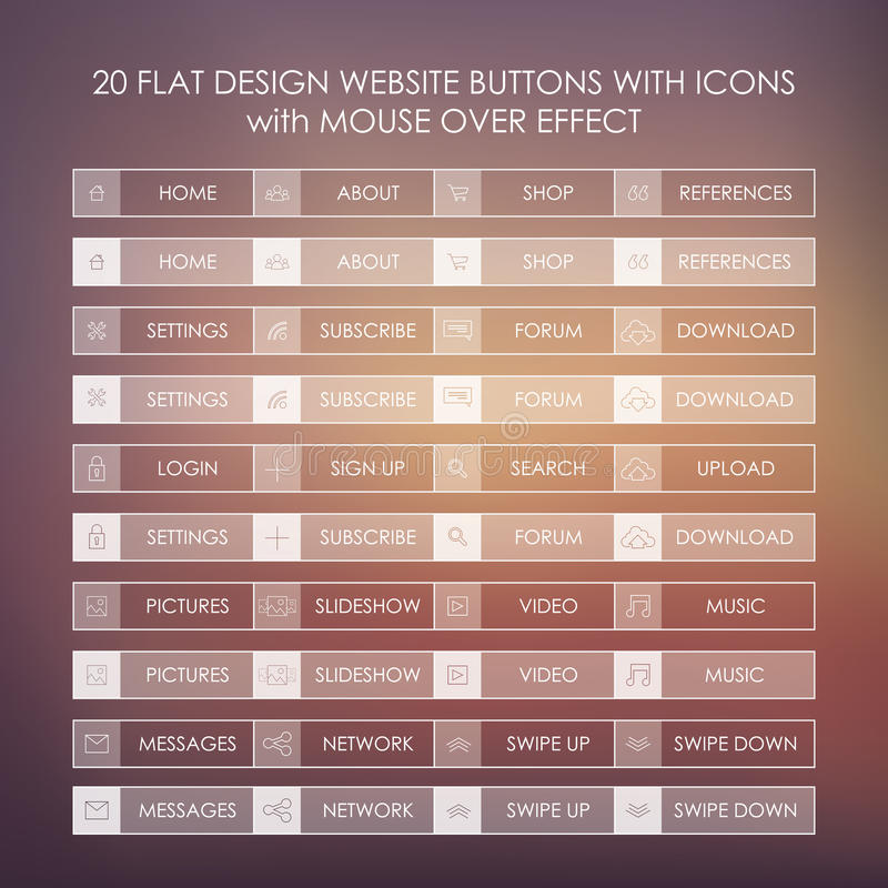 Sistema de 20 iconos básicos del sitio web en plano moderno libre illustration