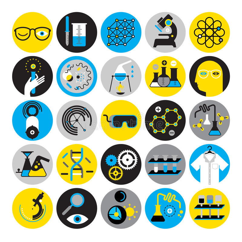 Sistema de iconos científicos libre illustration