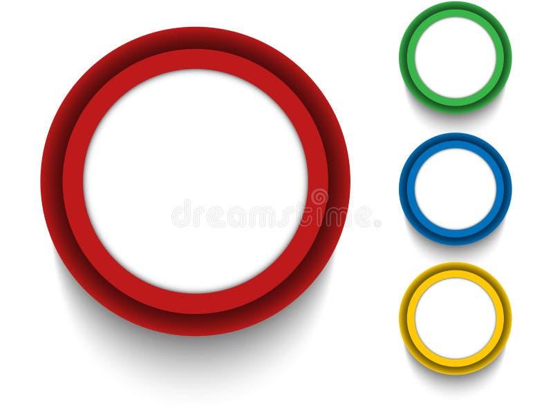 Sistema de iconos coloridos de los botones ilustración del vector
