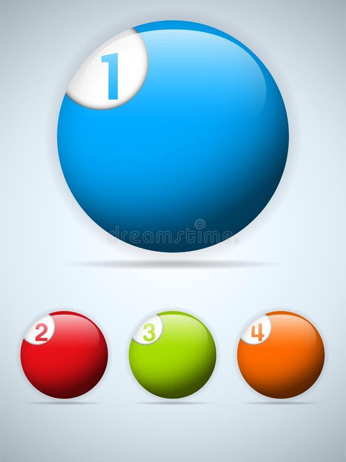 Sistema de iconos coloridos de los botones libre illustration