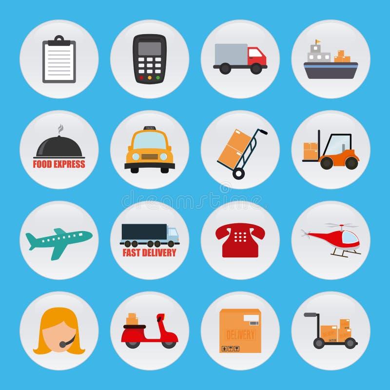 Sistema de iconos de la entrega libre illustration