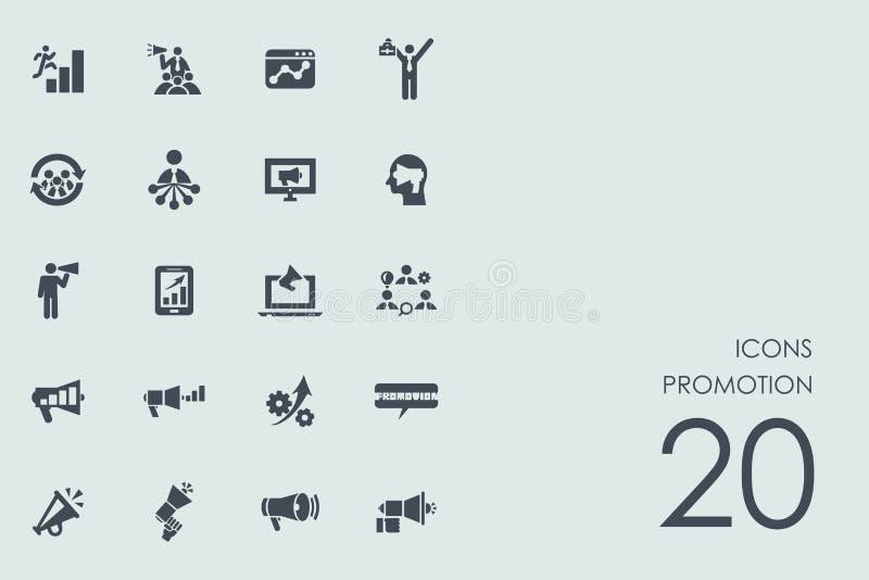 Sistema de iconos de la promoción ilustración del vector