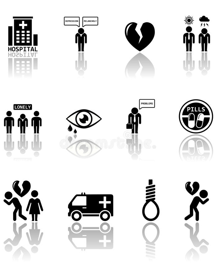 Sistema de iconos de la salud mental libre illustration