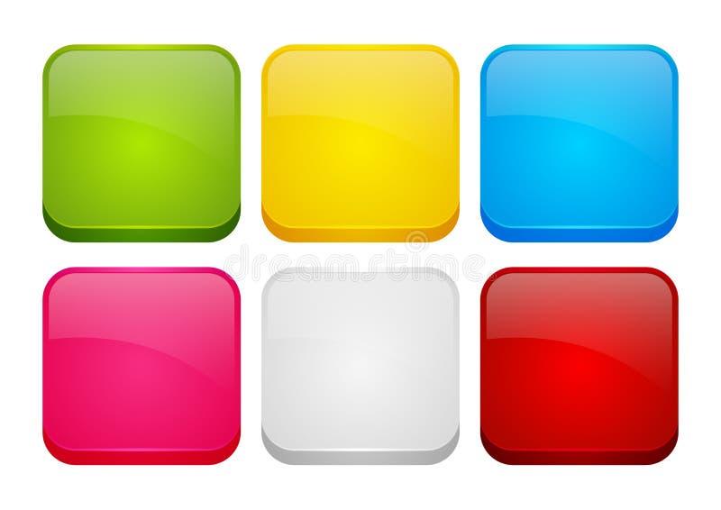 Sistema de iconos de los apps del color libre illustration