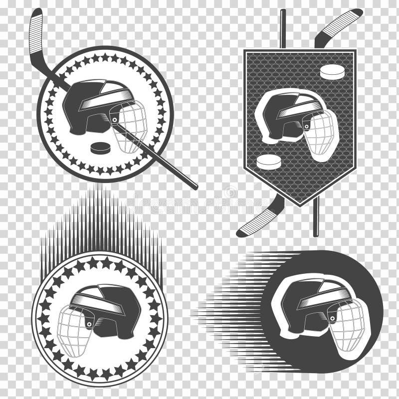 Sistema de iconos del hockey sobre hielo imagen de archivo