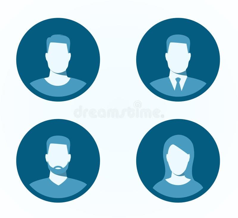 Sistema de iconos del perfil ilustración del vector
