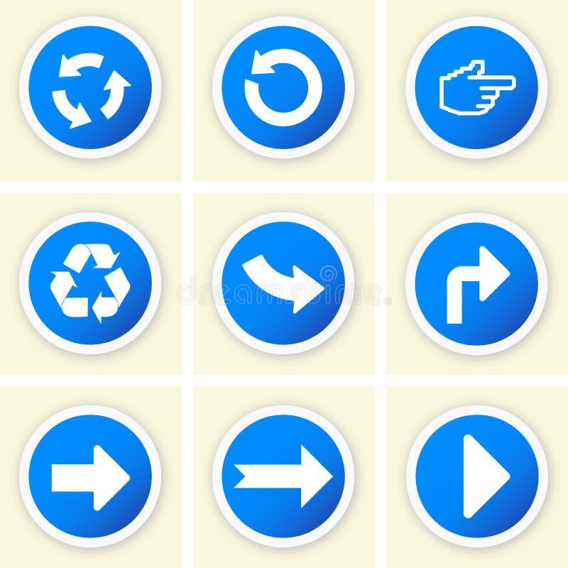 Sistema de iconos direccionales ilustración del vector