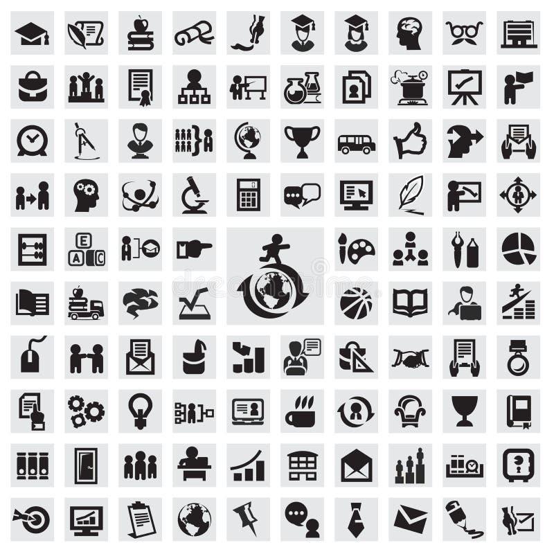 Sistema de iconos. educación stock de ilustración