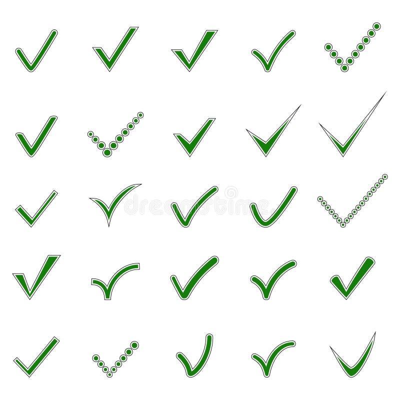 Sistema de iconos de la marca de verificaci?n, ejemplo del vector libre illustration