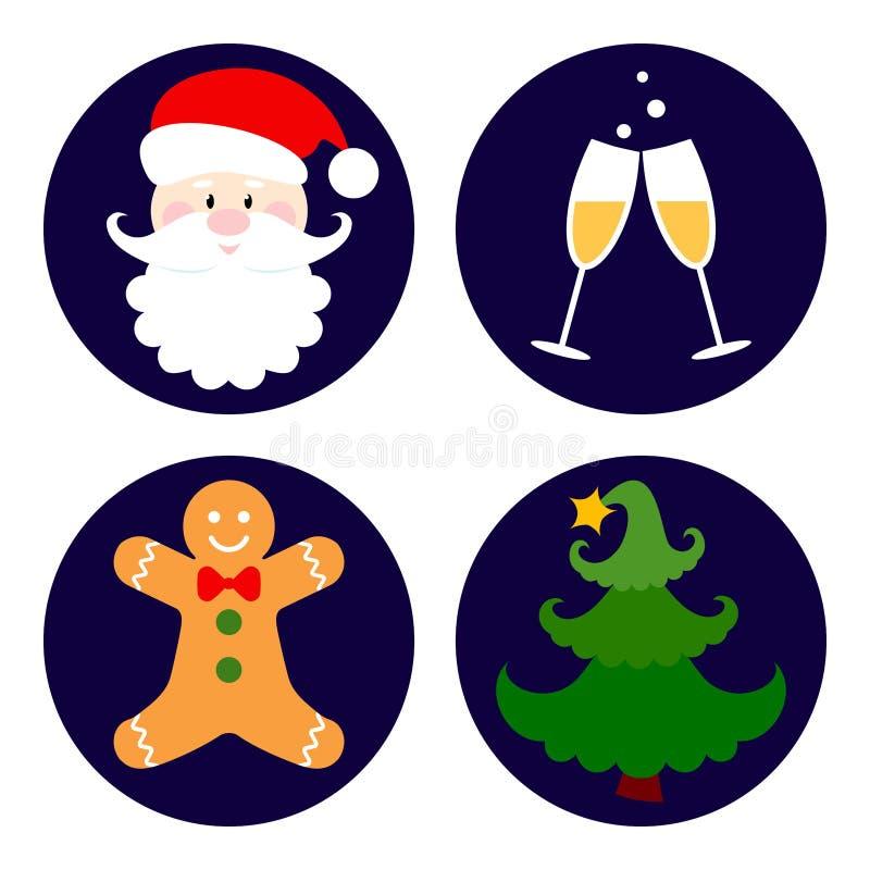 Sistema de iconos de la Navidad Ilustraci?n EPS10 del vector ilustración del vector