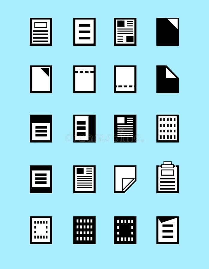 Sistema de iconos de los formatos de archivo del programa, vector de las extensiones de archivo libre illustration