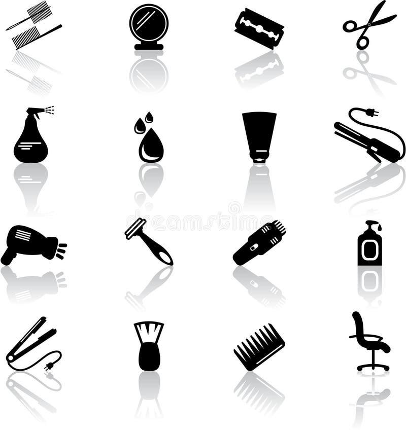 Iconos del salón de pelo libre illustration