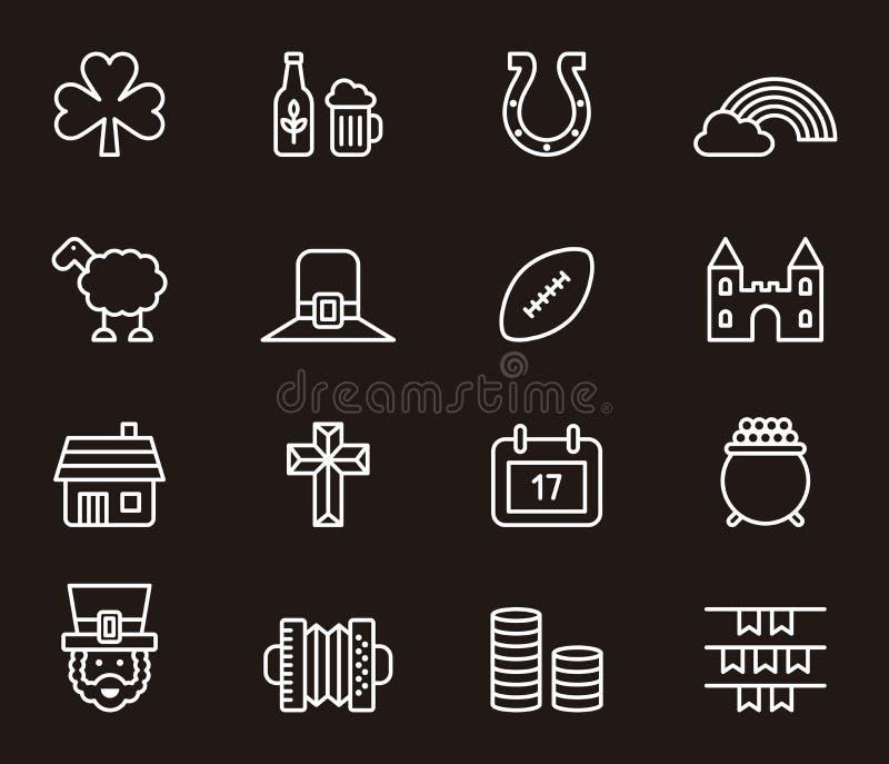 Sistema de iconos o de símbolos irlandeses libre illustration