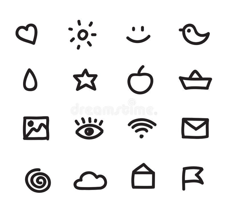 Sistema de iconos simples del web ilustración del vector