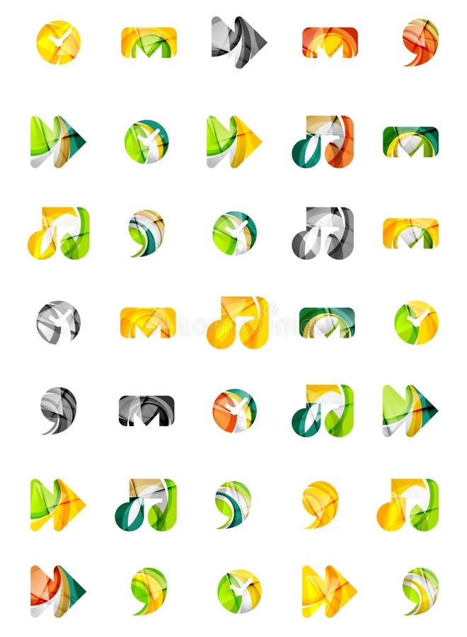 Sistema de iconos universales abstractos del web, negocio stock de ilustración