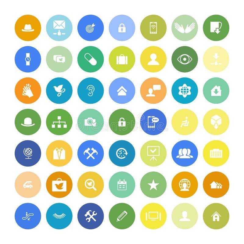 Sistema de 49 iconos universales Negocio, Internet, diseño web libre illustration