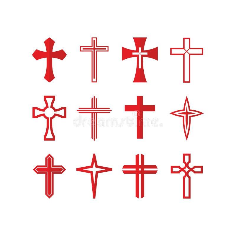 Sistema de iconos y de símbolos de la Cruz Roja libre illustration