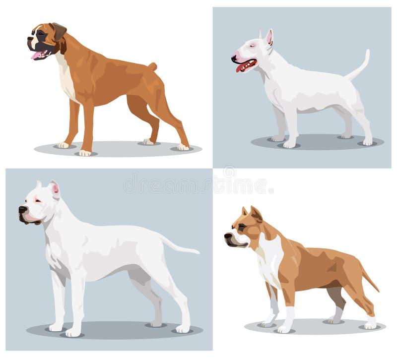 Sistema de imagen de perros stock de ilustración