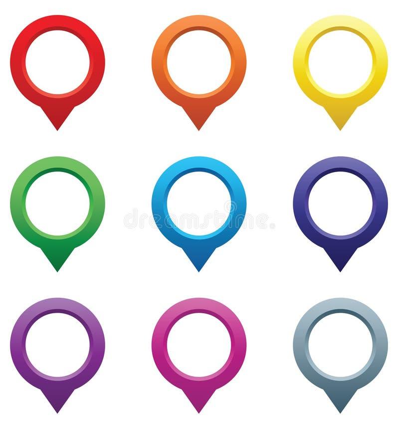 Sistema de indicadores del mapa. stock de ilustración
