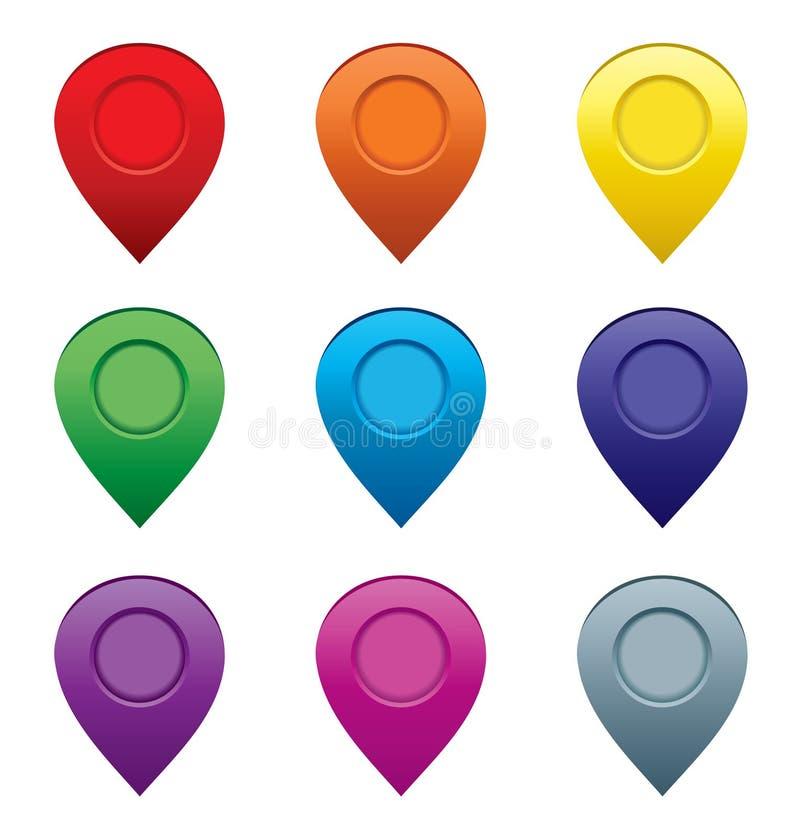 Sistema de indicadores del mapa. ilustración del vector