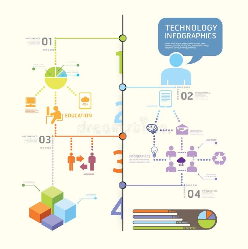 Sistema de Infographics y gráficos de la tecnología de la información stock de ilustración