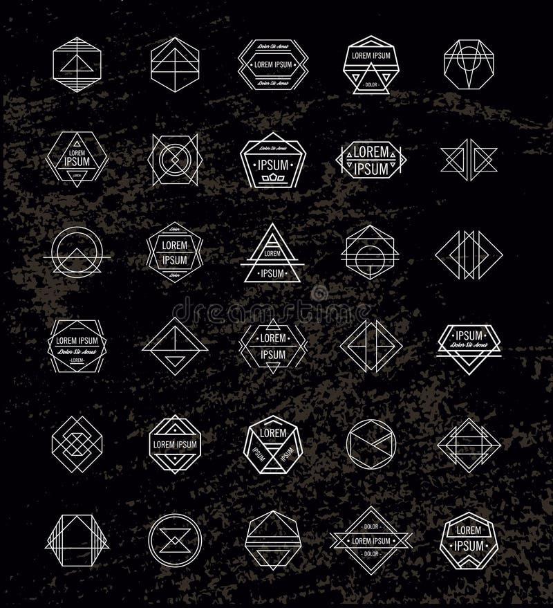 Sistema de insignias retras del inconformista del vintage y libre illustration