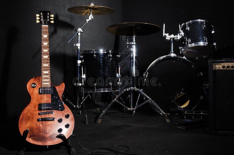 Sistema de instrumentos musicales imagen de archivo